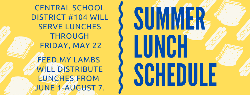 2020 Summer Lunch Schedule
