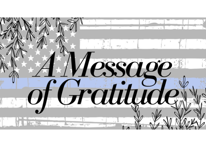 A Message of Gratitude