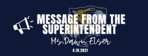 A Message from Ms. Elser