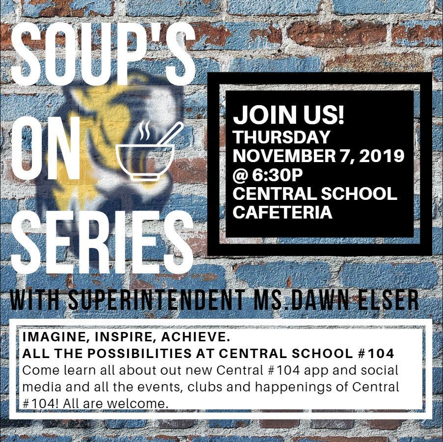 Soups on series Nov 7 @ 6:30p at CES