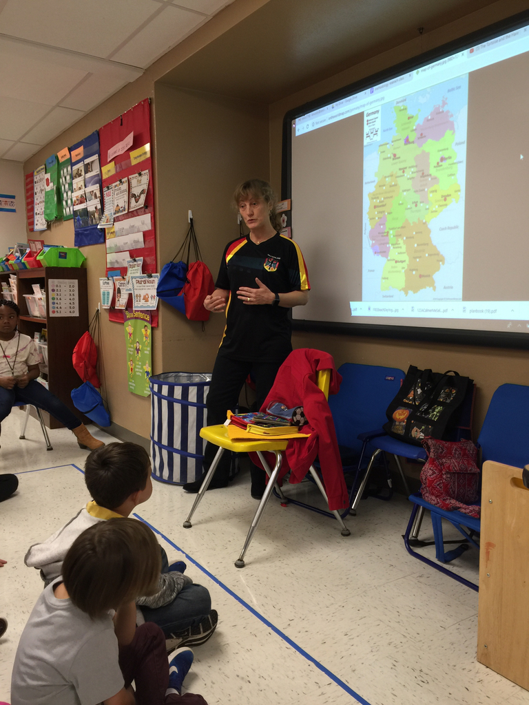 Mrs. Gorom shared her German Heritage with the second graders.