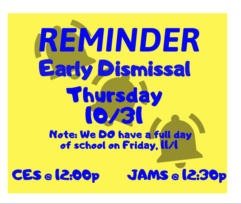 Early dismissal 10/31